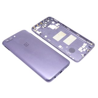 OnePlus 5 A5000 Akkudeckel Gehäuse Backcover Cover Housing Kamera Glas Blau