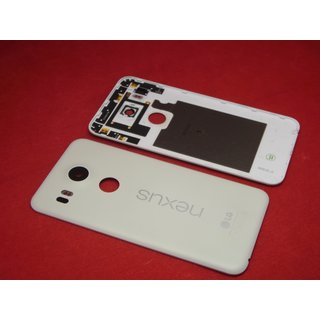 Original LG Nexus 5X H791 Akkudeckel Back Cover Kamera Glas Antenne LED Weiß