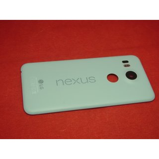 Original LG Nexus 5X H791 Akkudeckel Back Cover Kamera Glas Antenne LED Blau